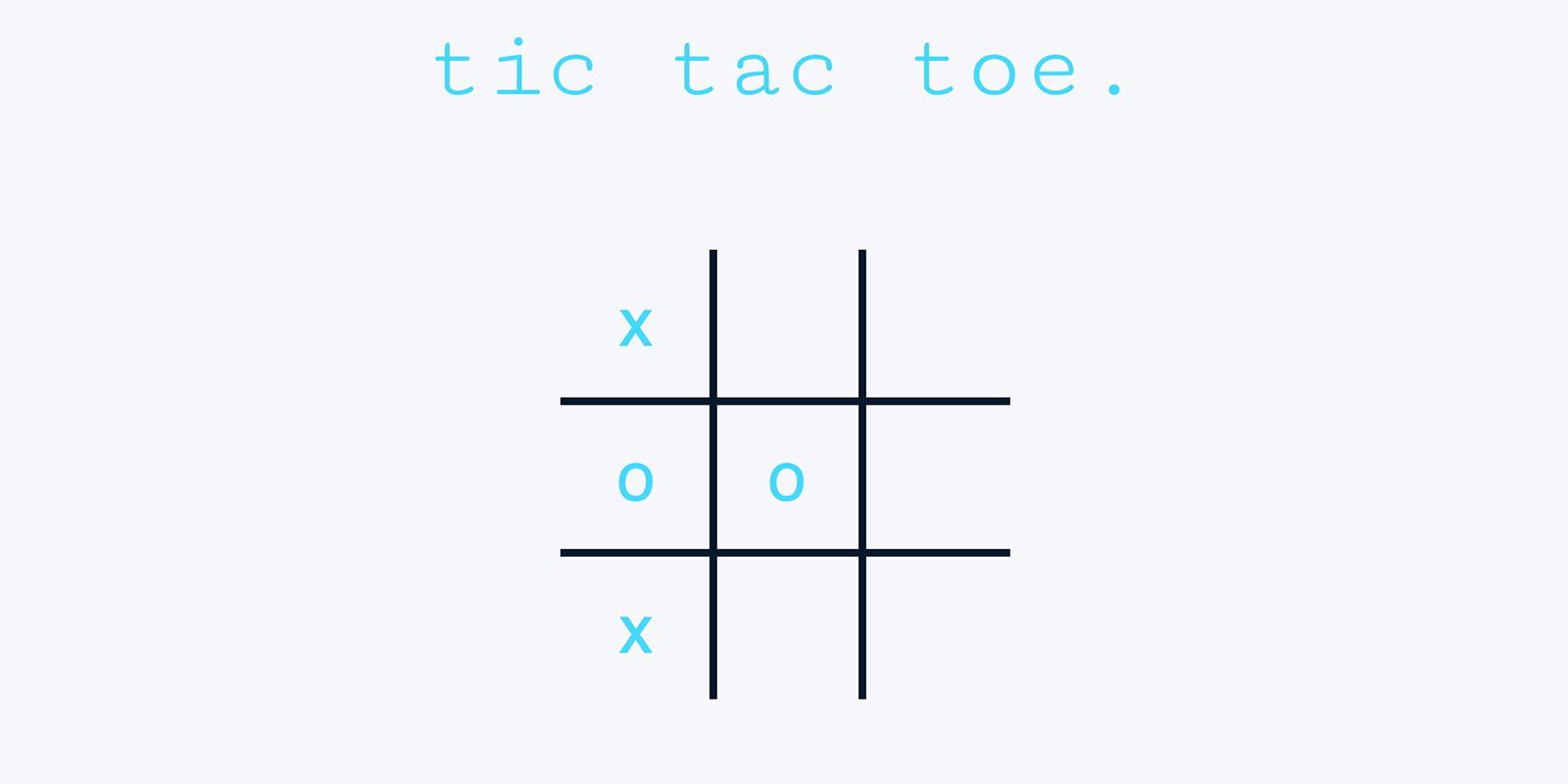 Vanilla Tic Tac Toe